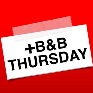 Early arrival supplement: Thursday B&B (2019)